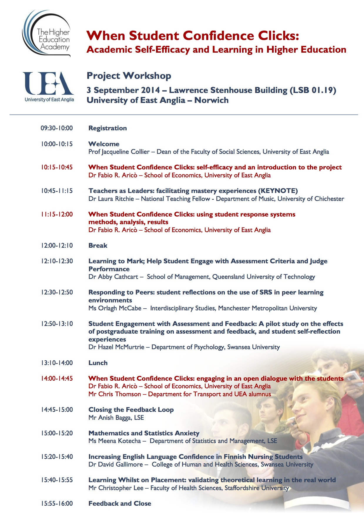 HEA funded Project Conference at UEA, Norwich